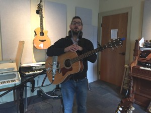 Zi audio session 2-26-16_Seth with guitar by Jana