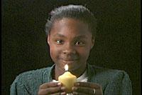 Larissa holding the Light