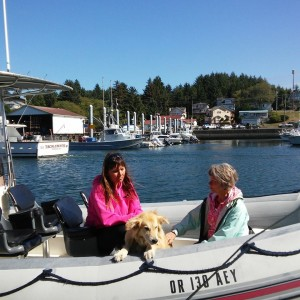 Kida, Carrie and me in harbor 9-15